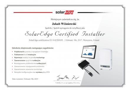Certyfikowany Instalator SolarEdge