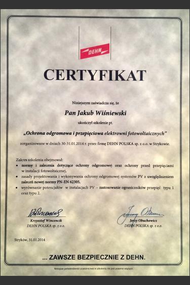Szkolenie z zakresu ochrony odgromowej i przepięciowej - DEHN